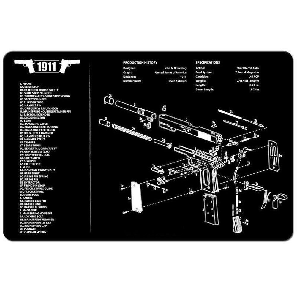 "【Hunter Select】11""x17"" 1911 Armorers Handgun Cleaning Bench Gunsmithing Mat Pad #00396"