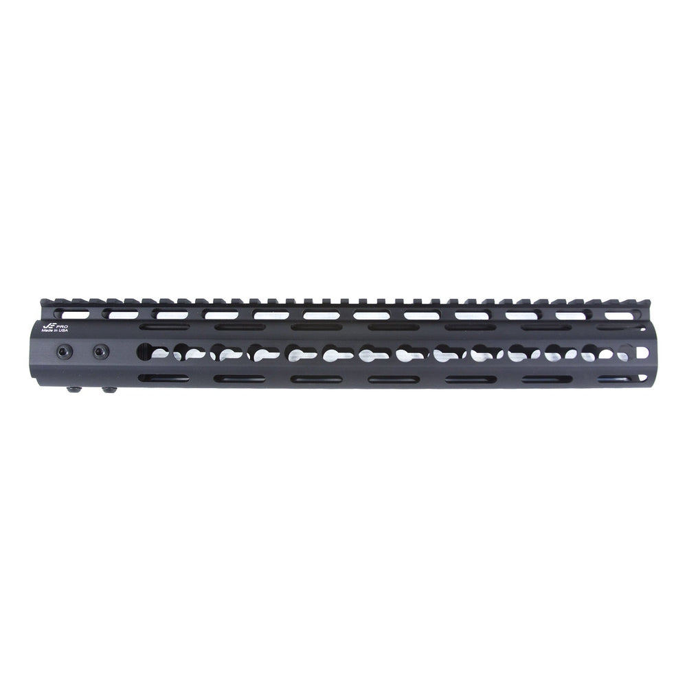 "【J&E Machine Tech】Made in USA Continuous Top Rail with Anti Rotate feature Gen-2 NSR Handguard 13.5"" #00384"