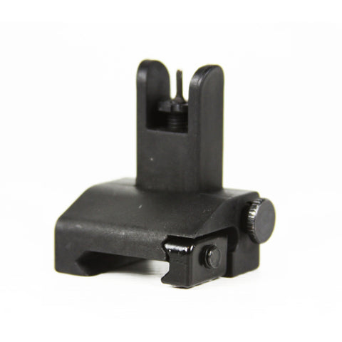 【J&E Machine Tech】Made in USA AR15/M4/M16 Iron Flip Up Front Backup Battle Sights for Mounting #00357