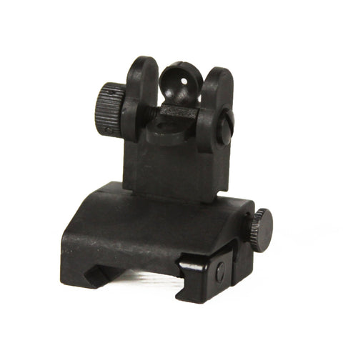 【J&E Machine Tech】Made in USA AR15/M4/M16 Iron Flip Up Rear Backup Battle Sights for Mounting #00356