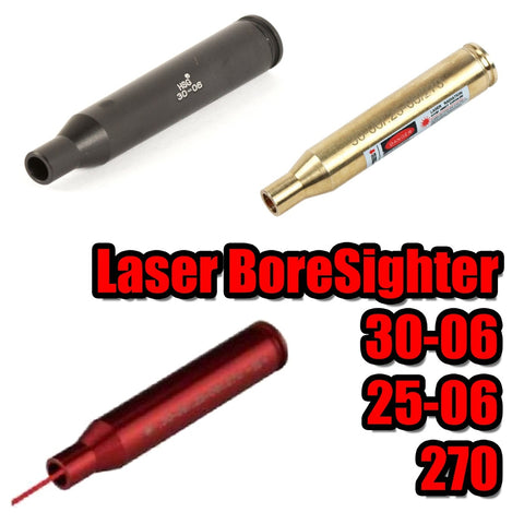 【Hunter Select】5Mw Laser Red Beam Dot Bore sight - 30x06 4 Colors #00265