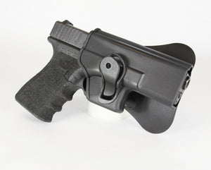 【Hunter Select】Glock 19 Black Tactical Polymer G19 One-Piece Holster #00296