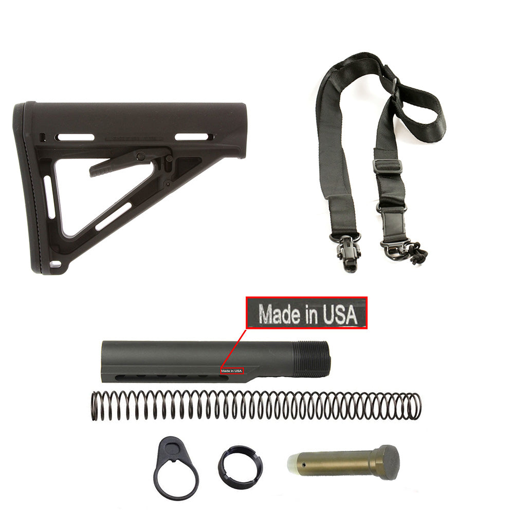 【Magpul】MOE Carbine Mil-Spec Stock in Black  w/ Buffer Tube Kit COMBO & 2 Point Sling#00646