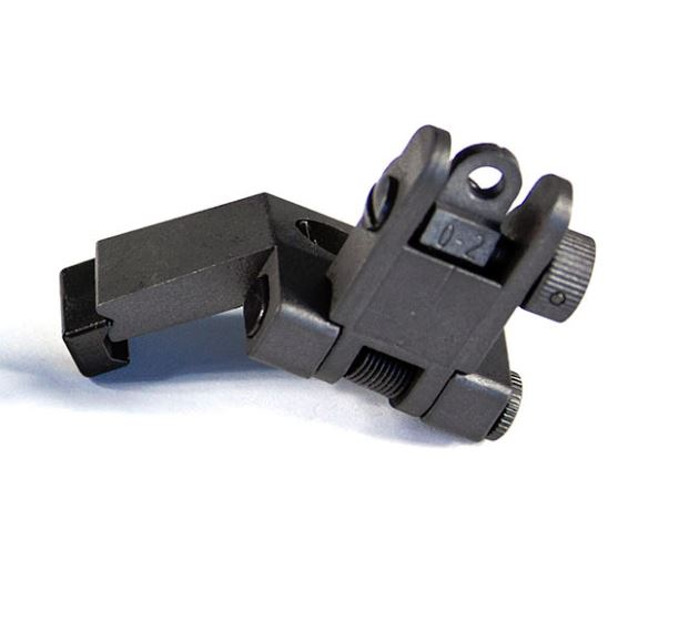 【JE Machine Tech】Made in USA 45 Degree Offset Rear Flip Up Sight - Black #00640