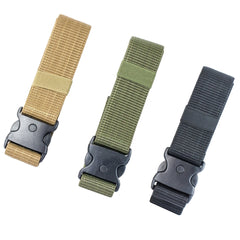 "【Hunter Select】46""x2"" Accessories Belt with 3 Button Snap Buckle Black/Tan/Green #00293"