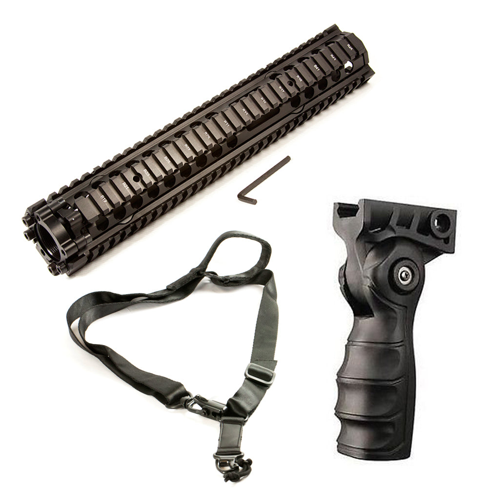 "【Hunter Select】Handguard DDMK12 - 13"" + Forend Pistol Grip w/ storage+ Convertible 1/2 Point Sling MS2 #00350"