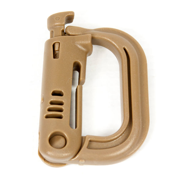 【Hunter Select】1PC Tactical Grimloc Safety Buckle MOLLE Locking D-ring Carabiner Hook, 1