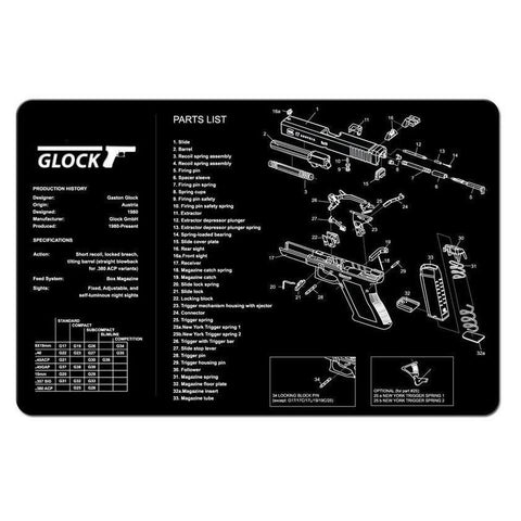 【Hunter Select】11 Inch x 17 Inch Maintenance Cleaning Mat Pad with Glock Imprint #00422