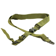 【Hunter Select】Tactical Three Single Point Sling Entry Level 3pt Bungee Strap Black/ Tan/ Green #00288
