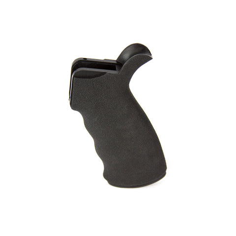 【J&E Machine Tech】Made in USA Textured Rubber Pistol Grip with Storage Compartment Flat Black #00218