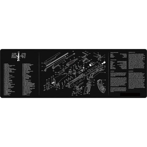 "【Hunter Select】12x36""  AK rifle Maintenance Cleaning Mat w/ AK47 Imprint #00371"
