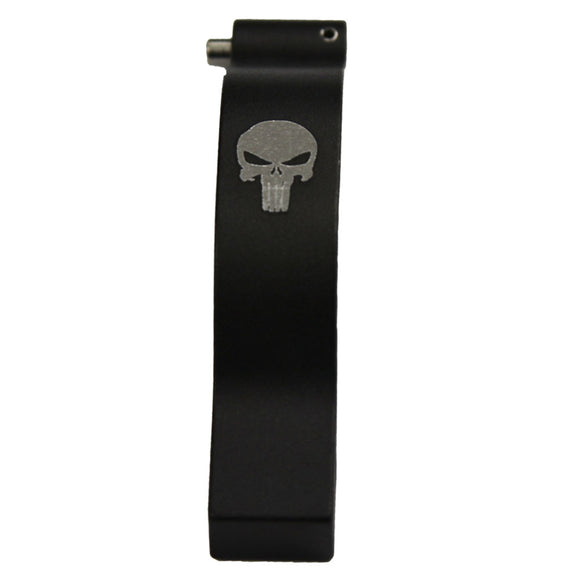 【Hunter Select】AR-15/ M4 Advanced Rounded edges Operator Oversize Trigger Guard Engraved Punisher Skull #00574