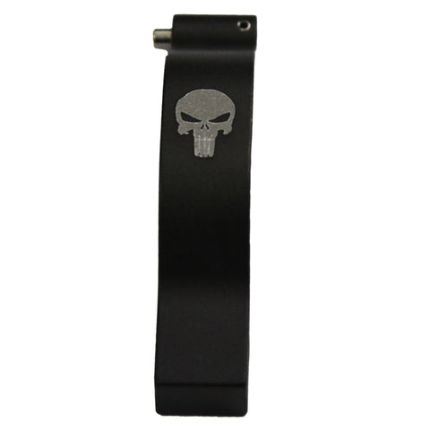 AR15/M4 Advanced Rounded edges Operator Oversize Trigger Guard Engraved Punisher Skull #00574
