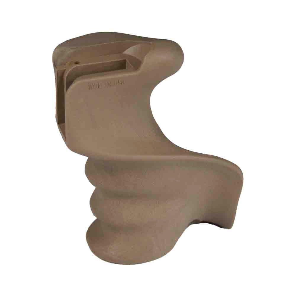 【J&E Machine Tech】Made in USA Heavy Duty Finger Groove Ergonomic Handle Flat Tan Finish #00578
