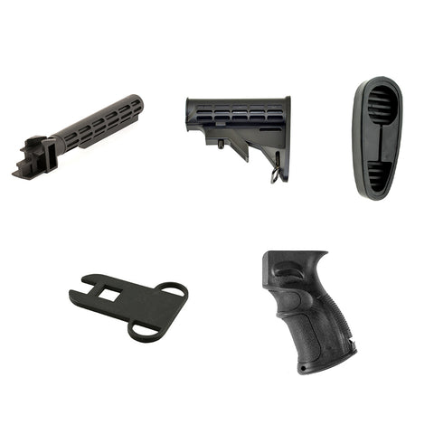 【Hunter Select】Com'Spec Standard Adjustable Stock AK-47 Buffer Tube Converter Tactical Furniture Set E #00551