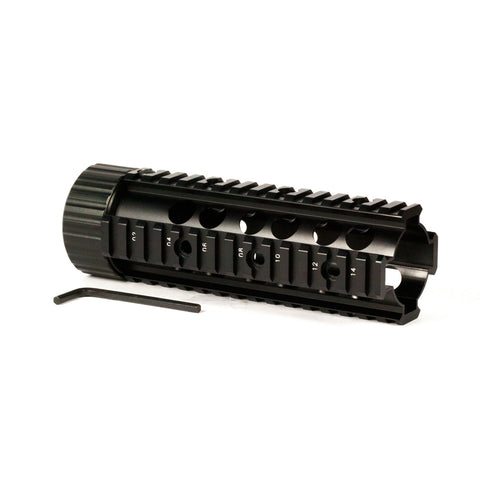 "【Hunter Select】AR-15 7"" Carbine Length Free Float Handguard- Black #00304"