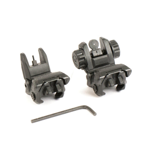 【Hunter Select】Nylon 66 Polymer Spring Loaded Flip-up Tactical Sight Set #00244