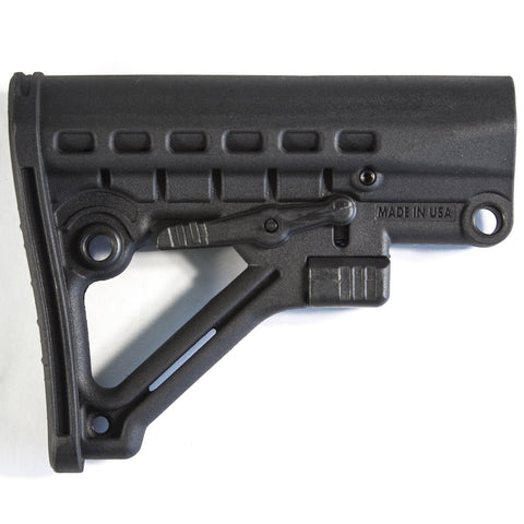 【J&E Machine Tech】Made in USA Mil Spec Skeleton A-Frame Adjustable Stock Made in USA California Compliant - Black #00459