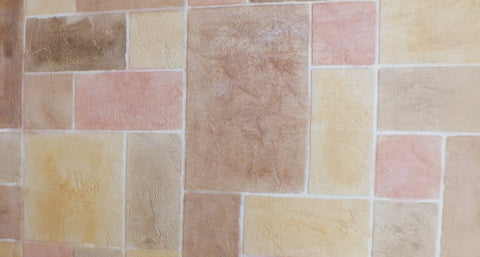Coral Gold Random Color Tile Floor Pattern | Lubbock Tile Flooring