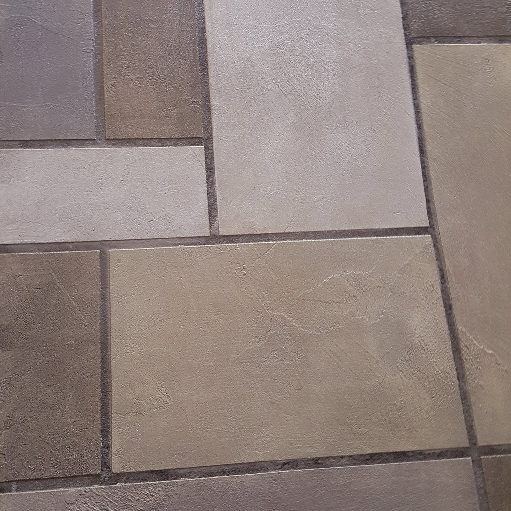 Citadel Gray Random Tile Design Pattern | Lubbock Tile Flooring | Install Price Sq Ft