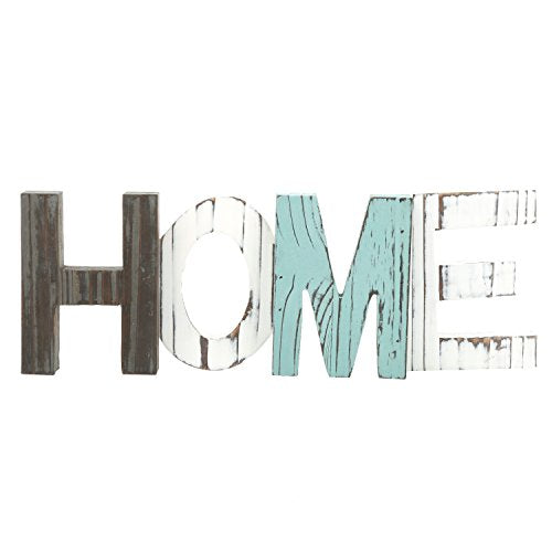 Home Accent MyGift Rustic Wood Home Decorative Sign, Standing Cutout Word Decor, Multicolor: Home & Kitchen
