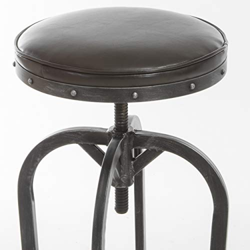 Gunner Swivel Iron Bar Stool by Christopher Knight Home: Home & Kitchen