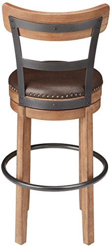 Ashley Furniture Signature Design - Pinnadel Swivel Bar Stool - Pub Height - Light Brown: Home & Kitchen
