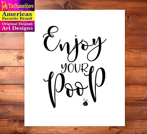 Home Accent TheNameStore Bathroom Quotes and Sayings Art Prints | Set of Four Photos 8x10 Unframed | Great Gift for Bathroom Decor: Posters & Prints