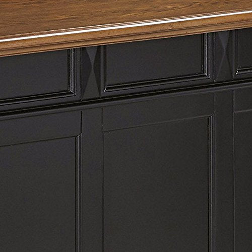 Home Styles Model 5003-99 Black and Oak Finish Americana Bar Top: Kitchen & Dining