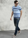 COBB Sky Blue Polo Neck T-Shirt