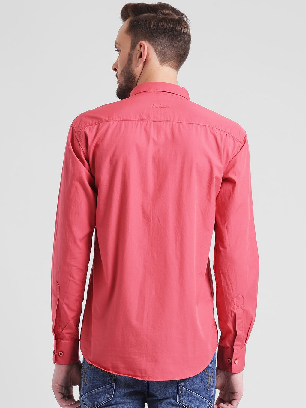 cobb pink slim fit casual shirt
