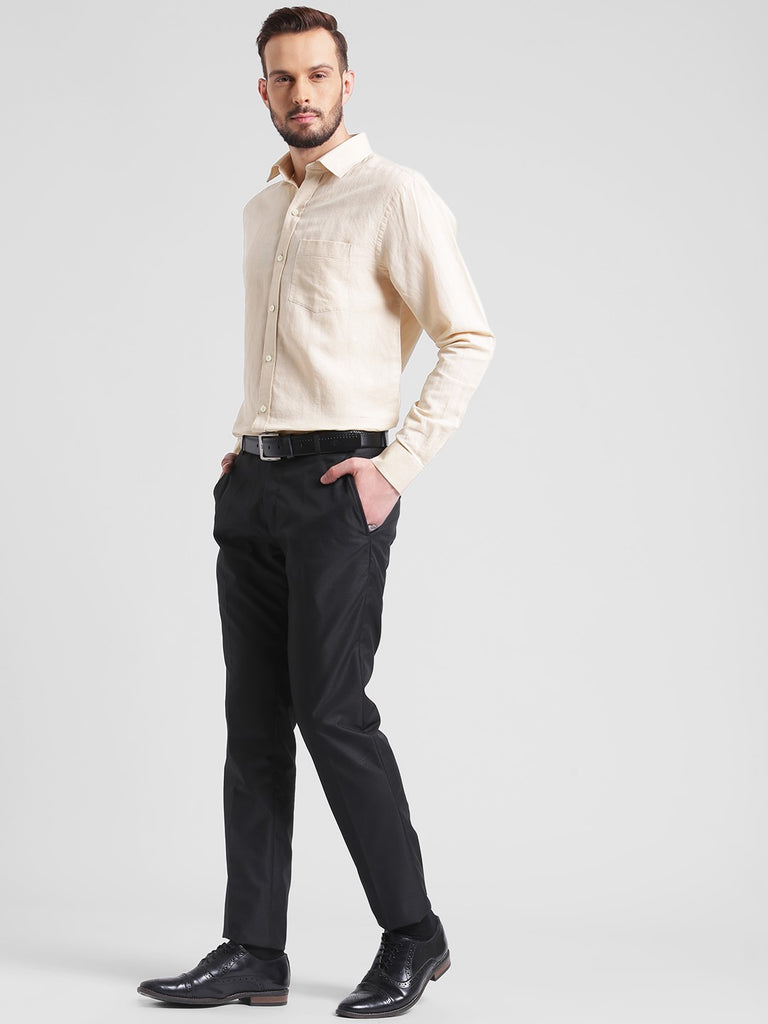 cobb cream slim fit formal shirt