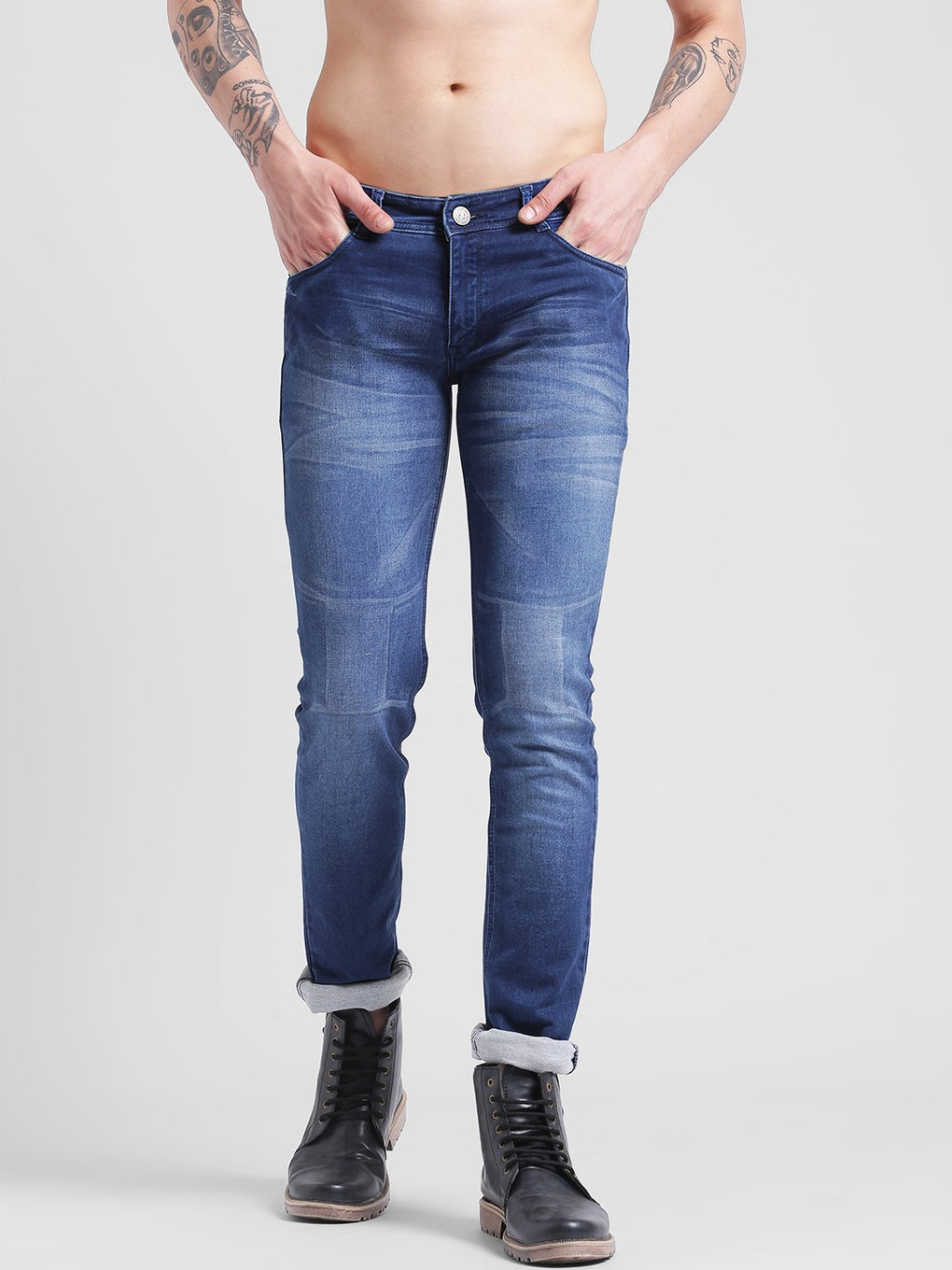 cobb blue slim fit jeans