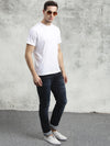 COBB Navy Blue Washed Slim Fit Jeans