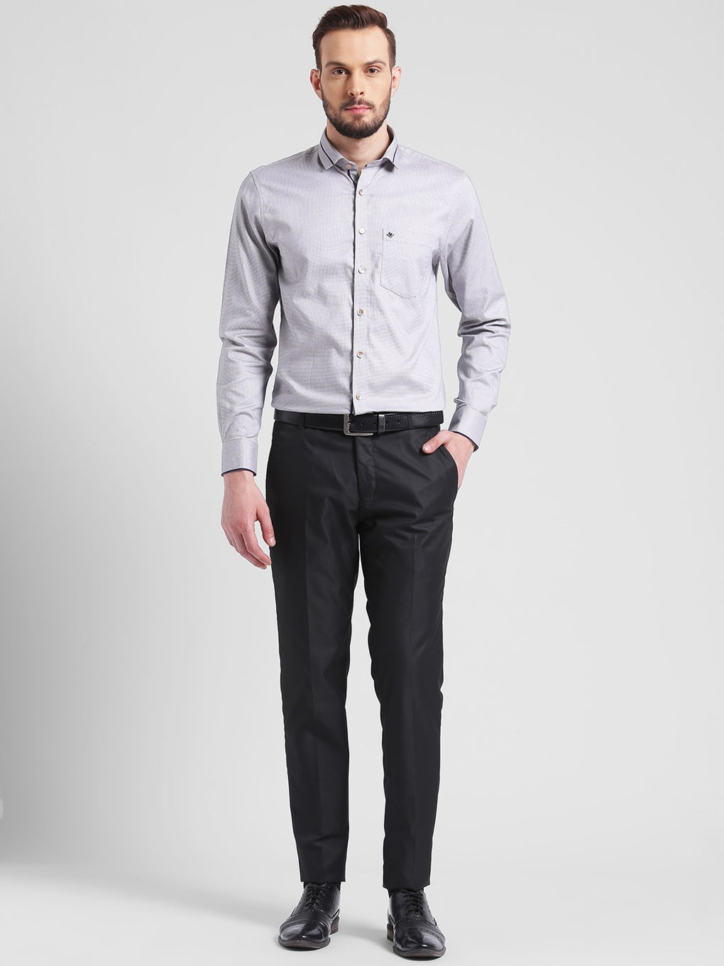 cobb black slim fit formal trouser