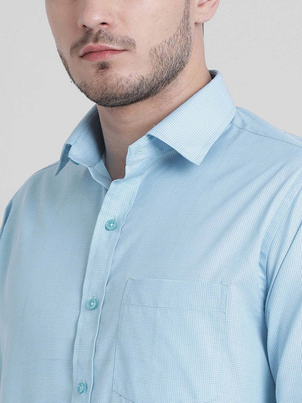 cobb green solid formal shirt