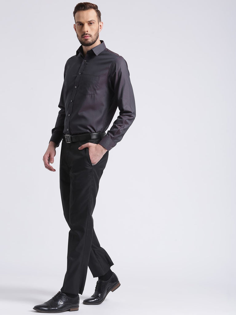 cobb brown slim fit formal shirt