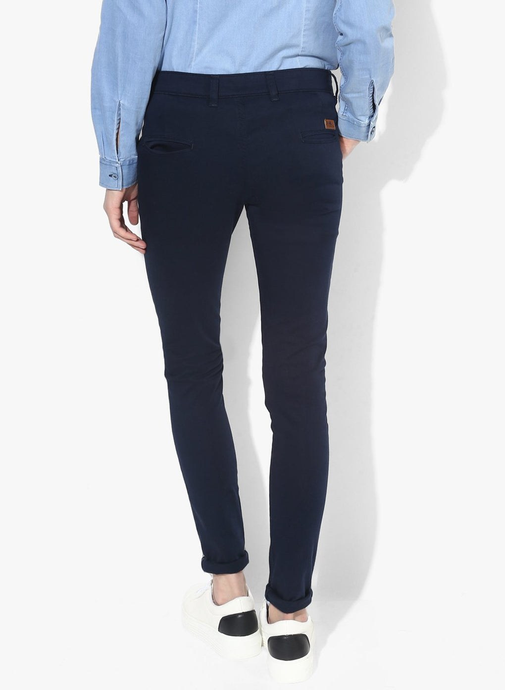 miss forever blue slim fit chinos