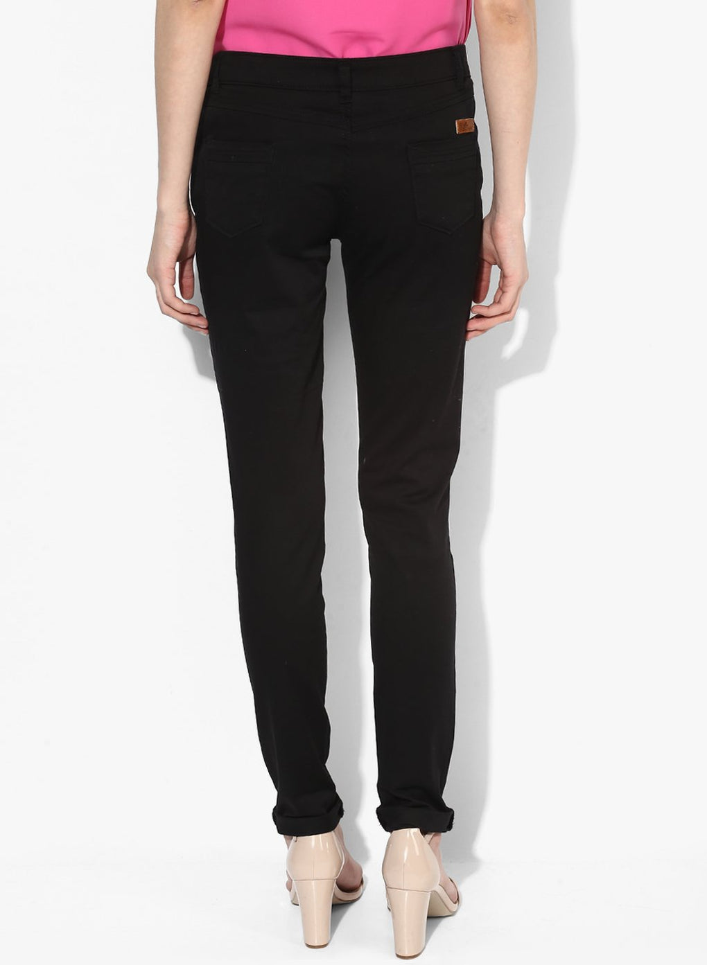 miss forever black slim fit chinos