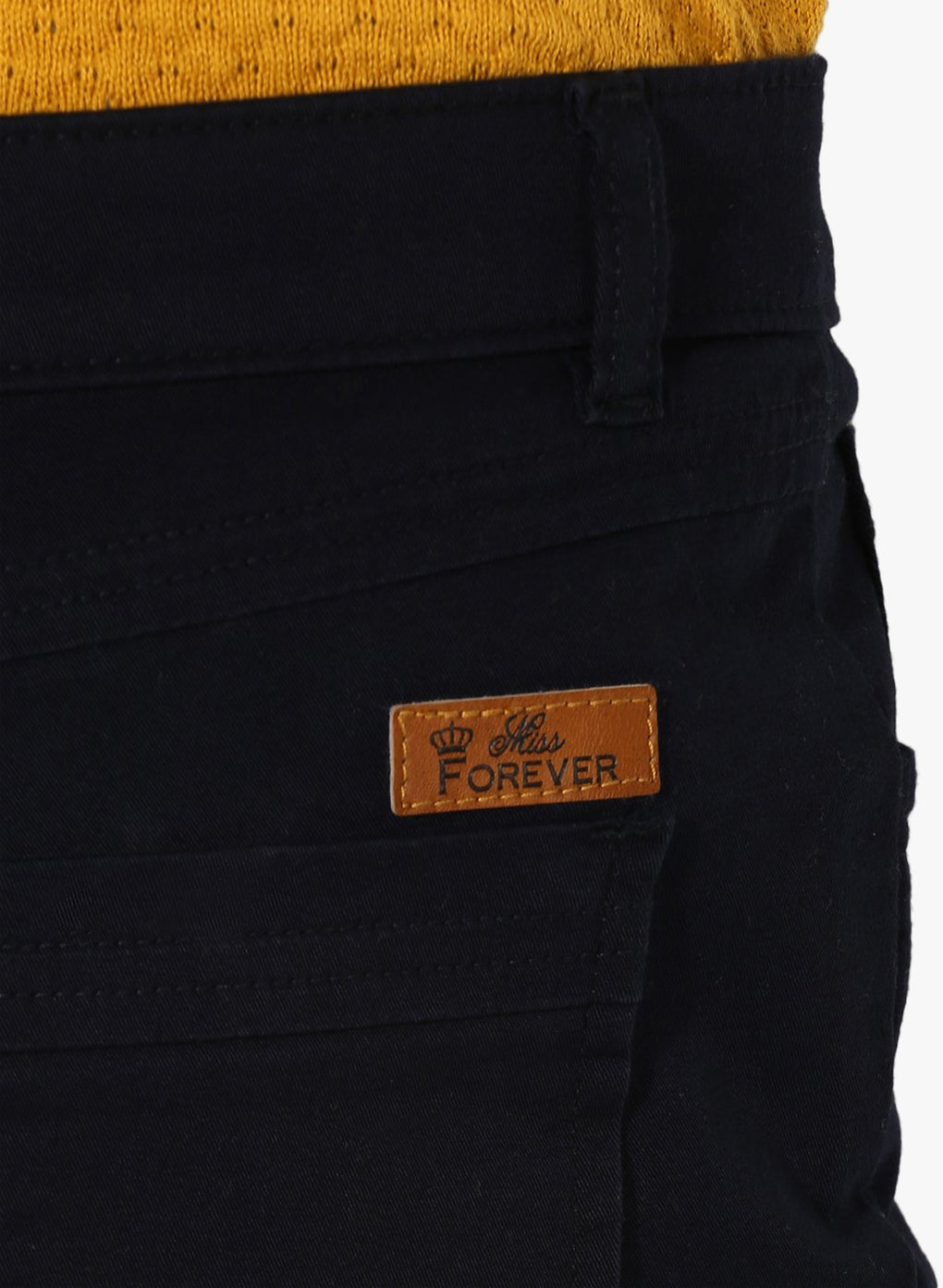 miss forever navy blue slim fit chinos