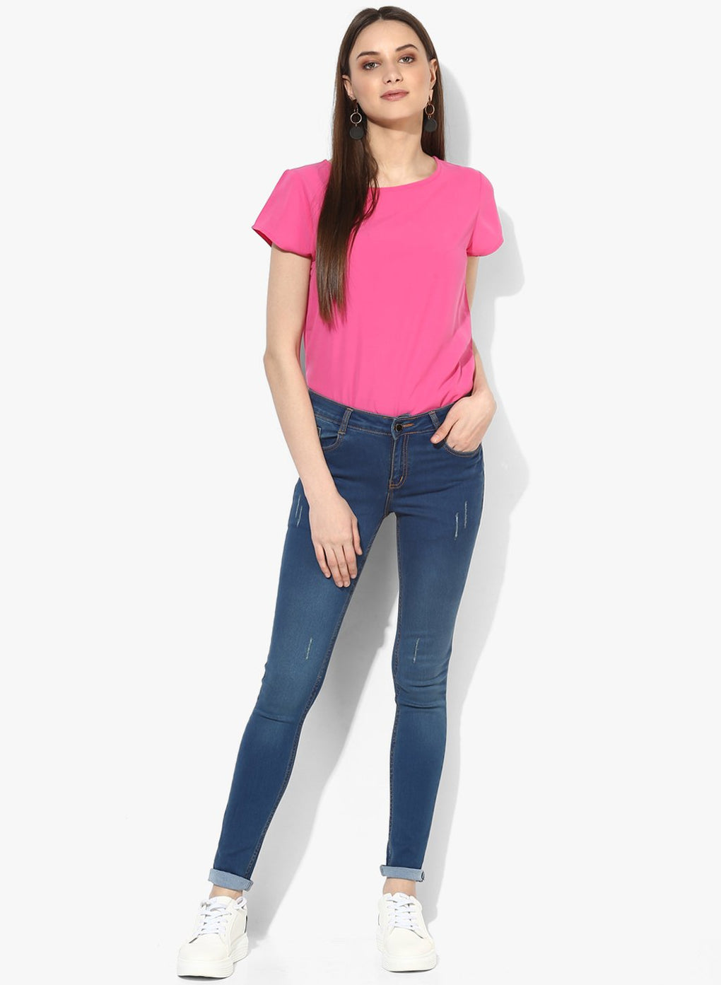 miss forever blue slim fit jeans