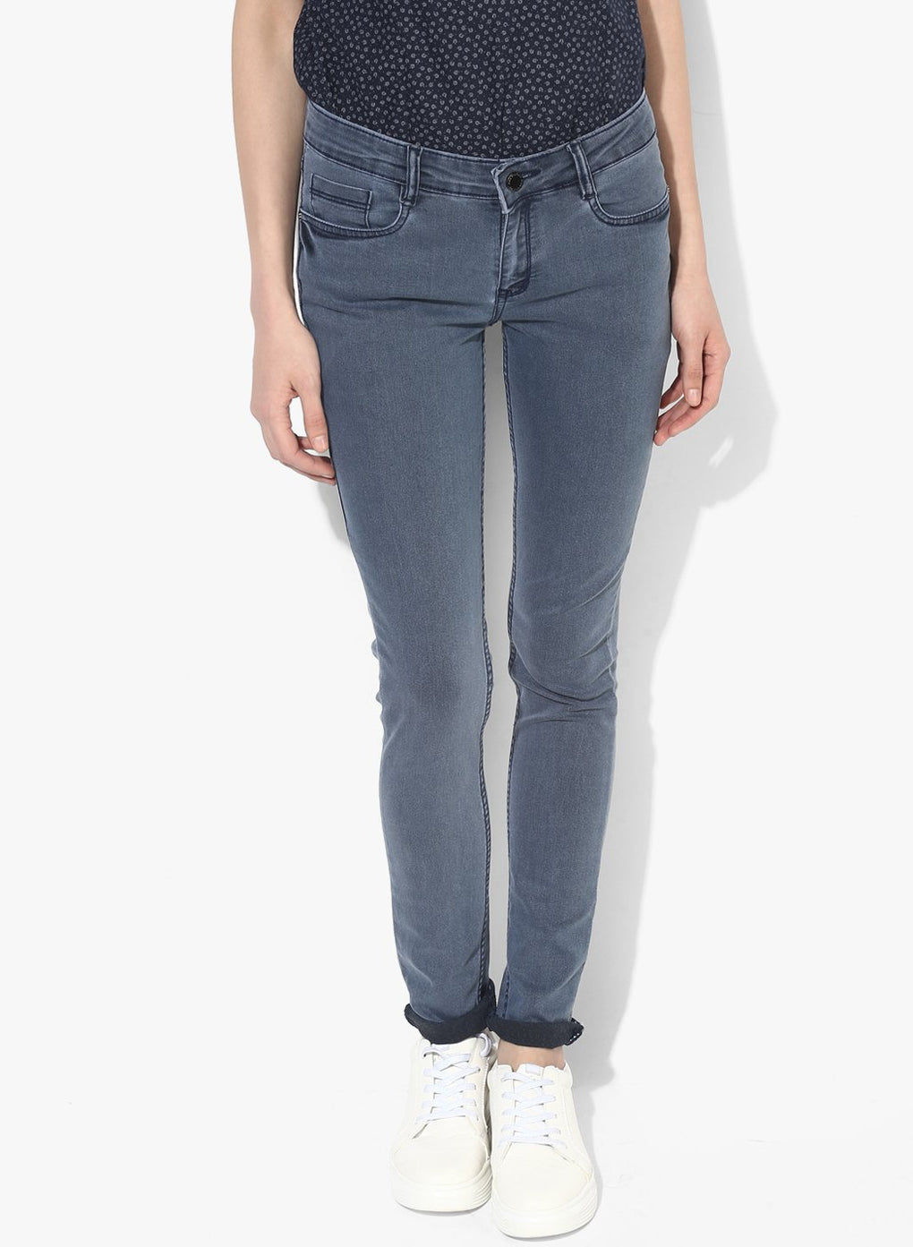 miss forever grey slim fit jeans