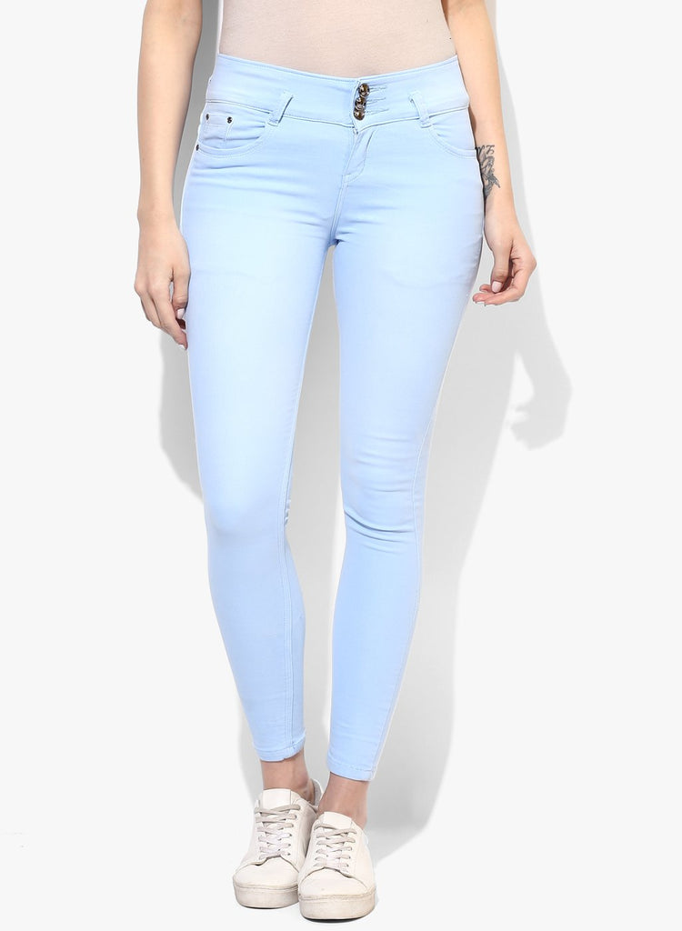 miss forever sky blue slim fit jeans