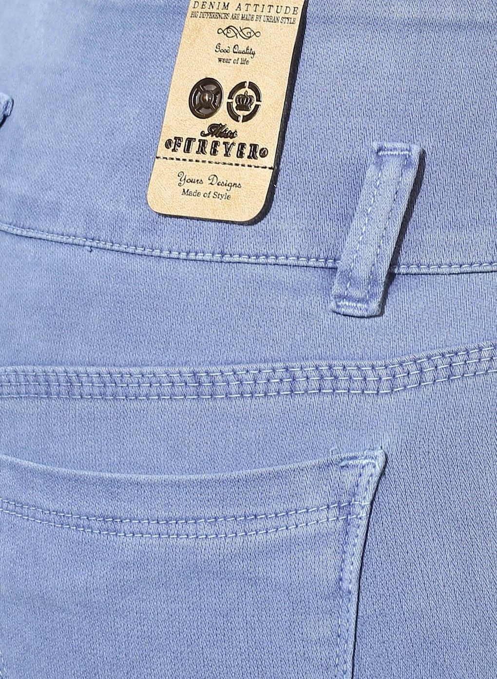 miss forever sea blue slim fit jeans