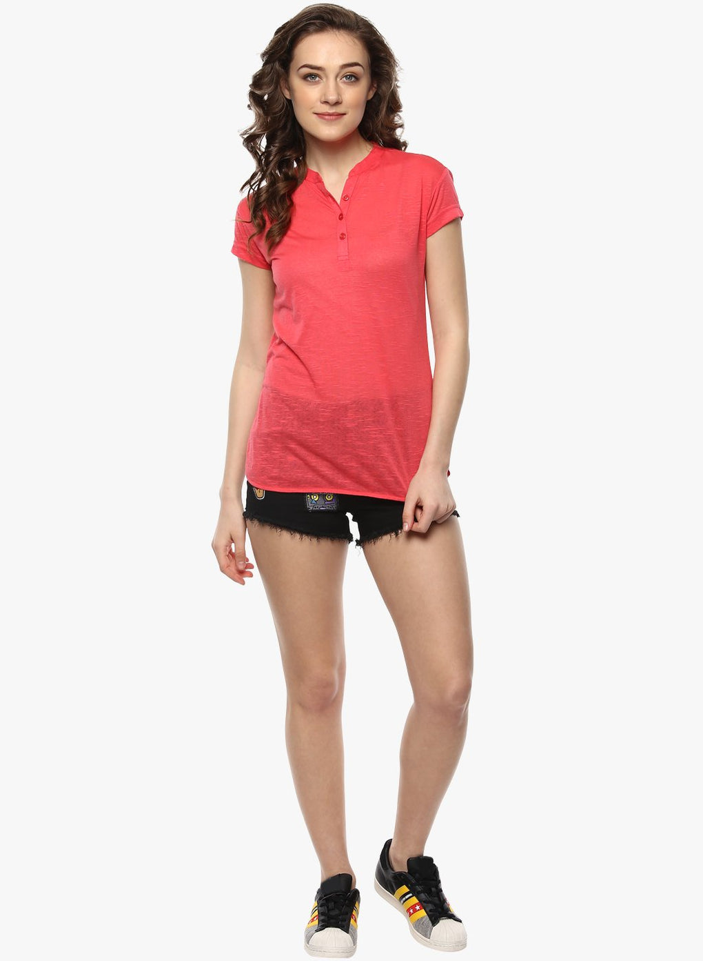 miss forever red solid top