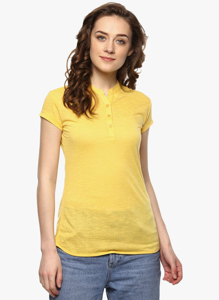 miss forever yellow solid top