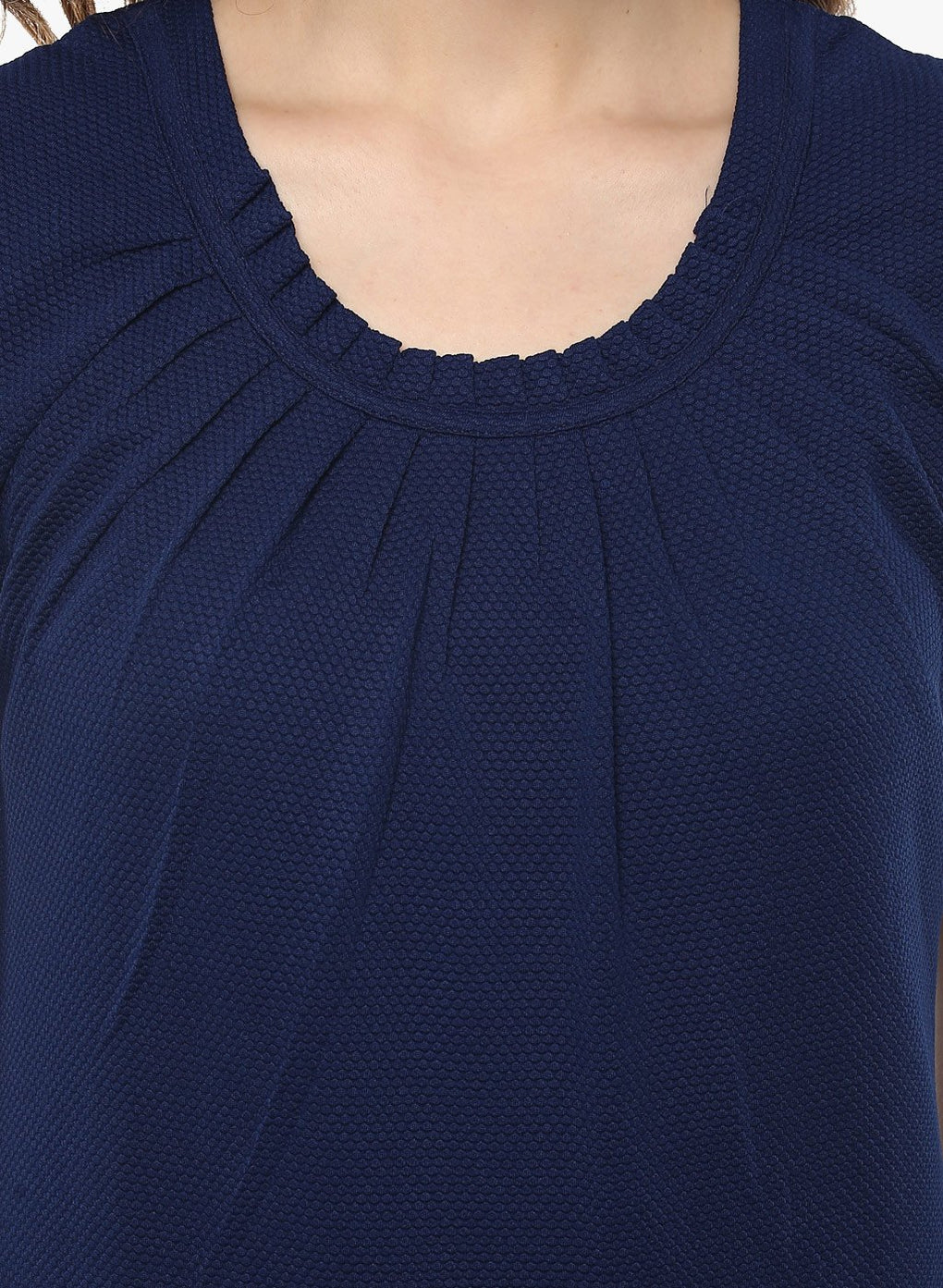 miss forever blue solid top