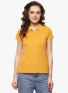 miss forever yellow solid t-shirt