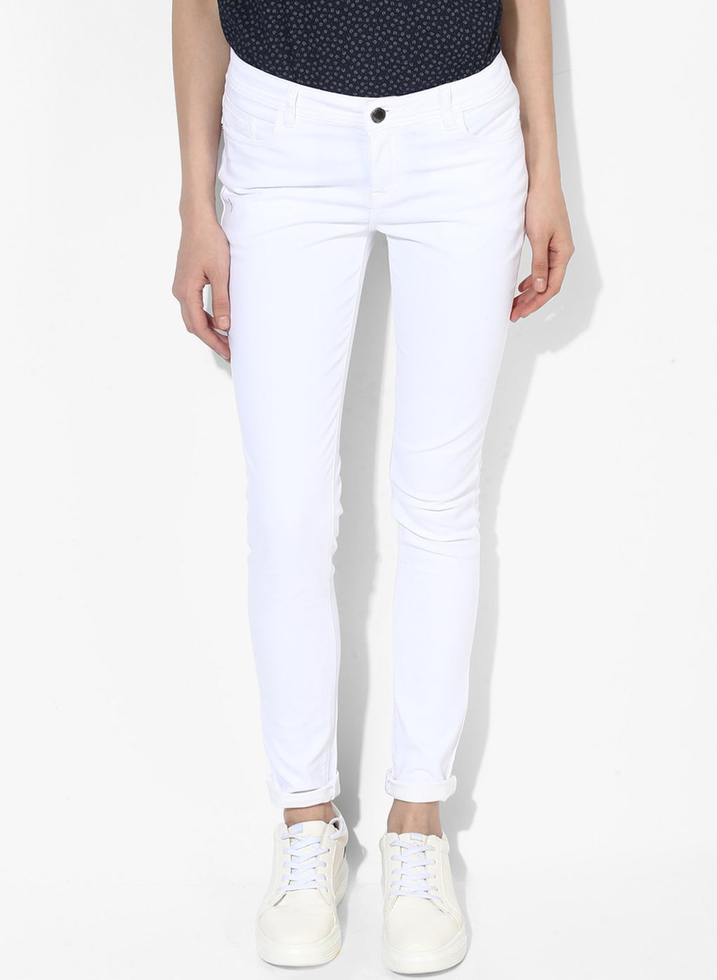 miss forever white slim fit jeans