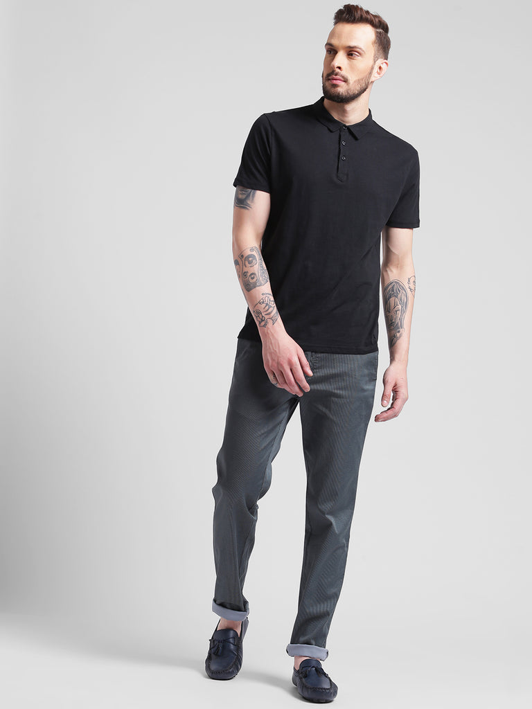 COBB Grey Slim Fit Chinos